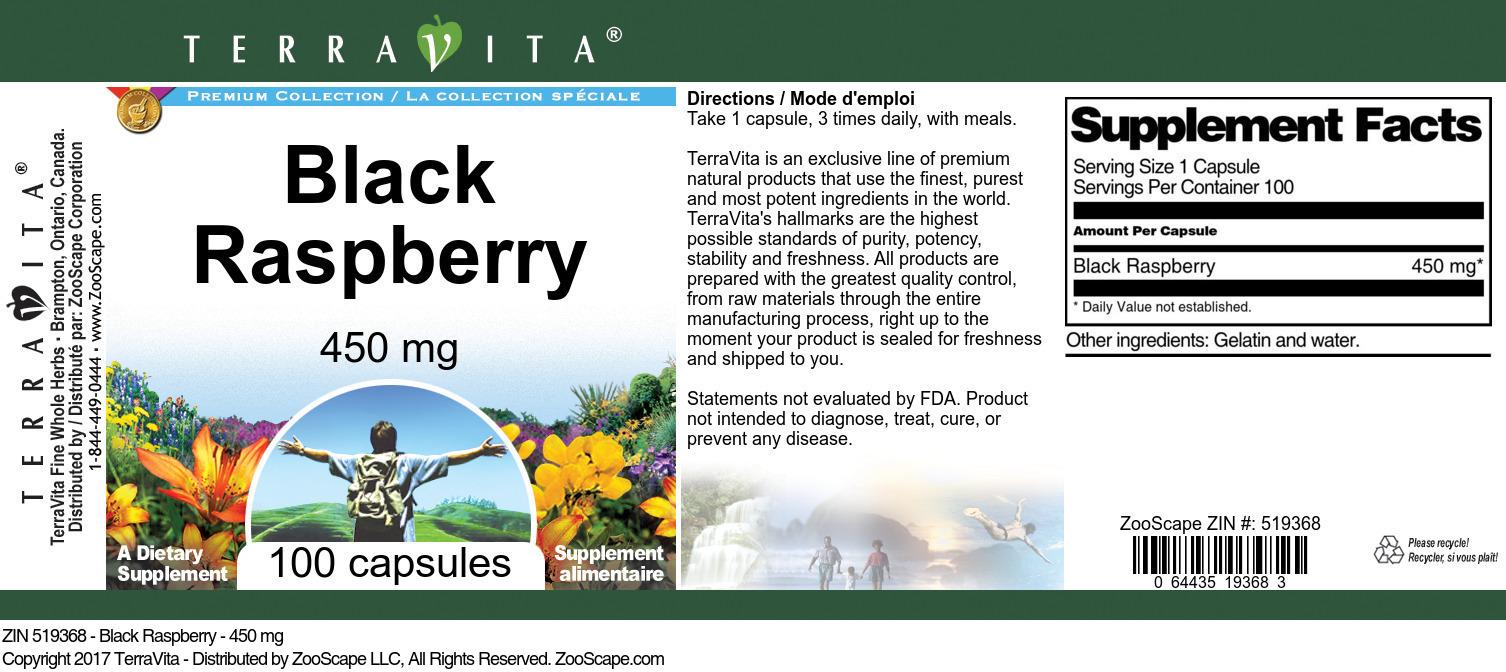 Black Raspberry - 450 mg