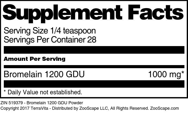 Bromelain 1200 GDU Powder