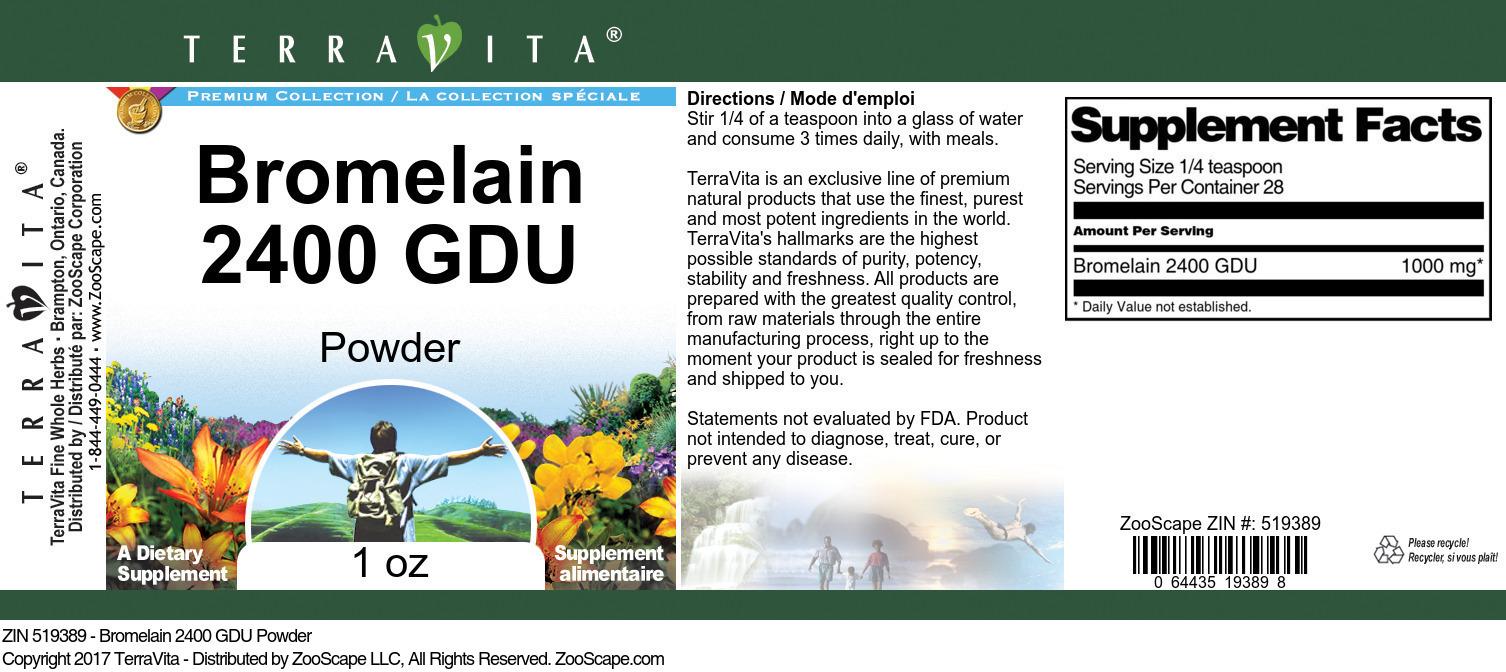 Bromelain 2400 GDU Powder