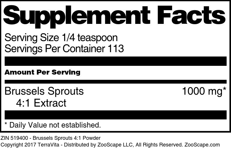 Brussels Sprouts 4:1 Extract