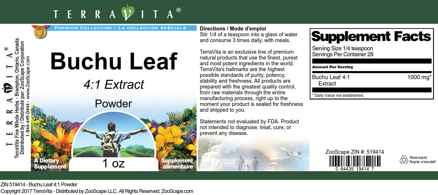 Buchu Leaf 4:1 Extract
