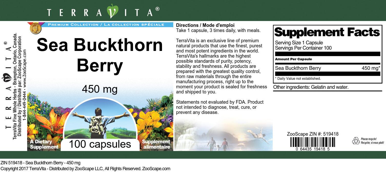 Sea Buckthorn Berry - 450 mg