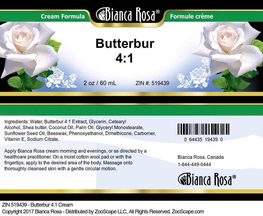 Butterbur 4:1 Cream