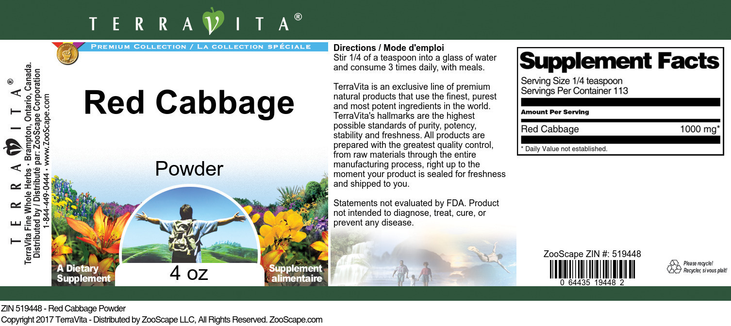 Red Cabbage Powder