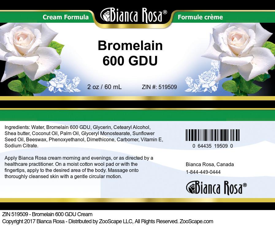 Bromelain 600 GDU Cream