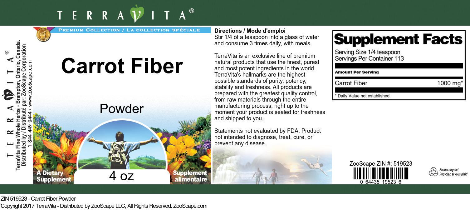 Carrot Fiber Powder