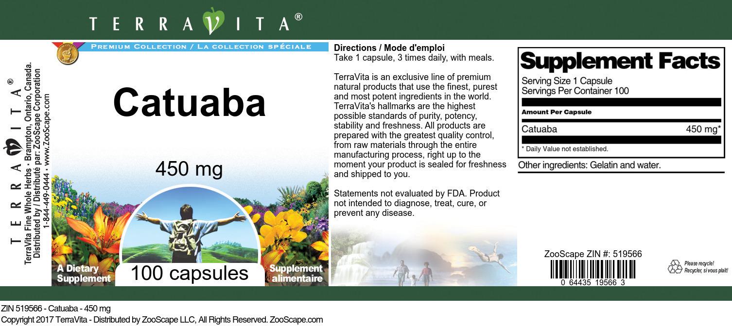 Catuaba - 450 mg