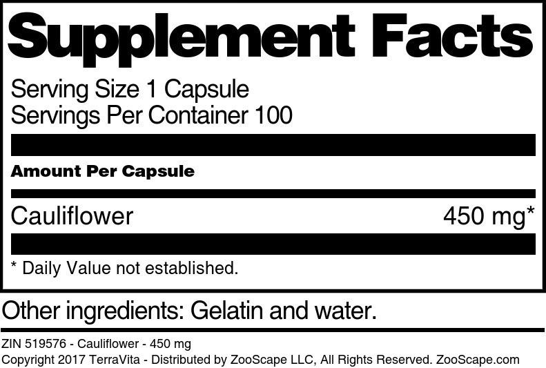 Cauliflower - 450 mg