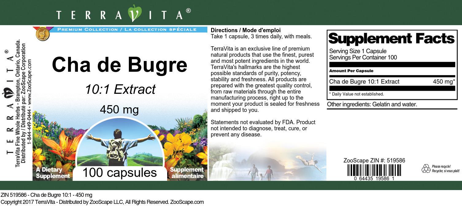 Cha de Bugre 10:1 - 450 mg