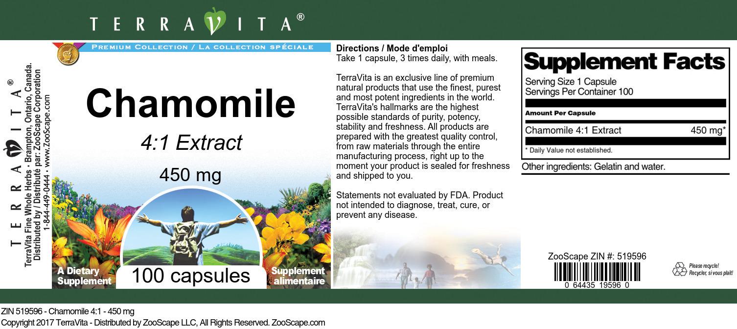 Chamomile 4:1 - 450 mg