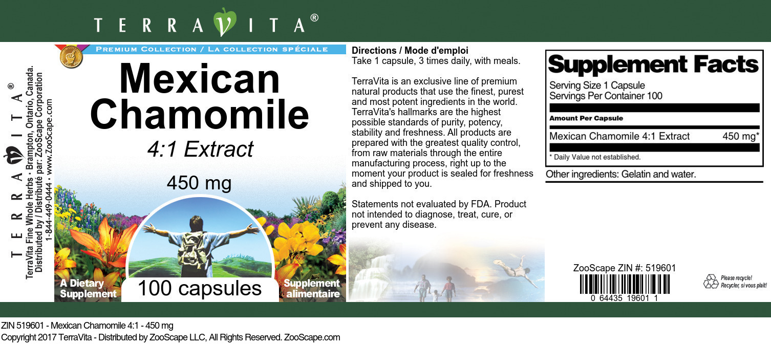 Mexican Chamomile 4:1 - 450 mg