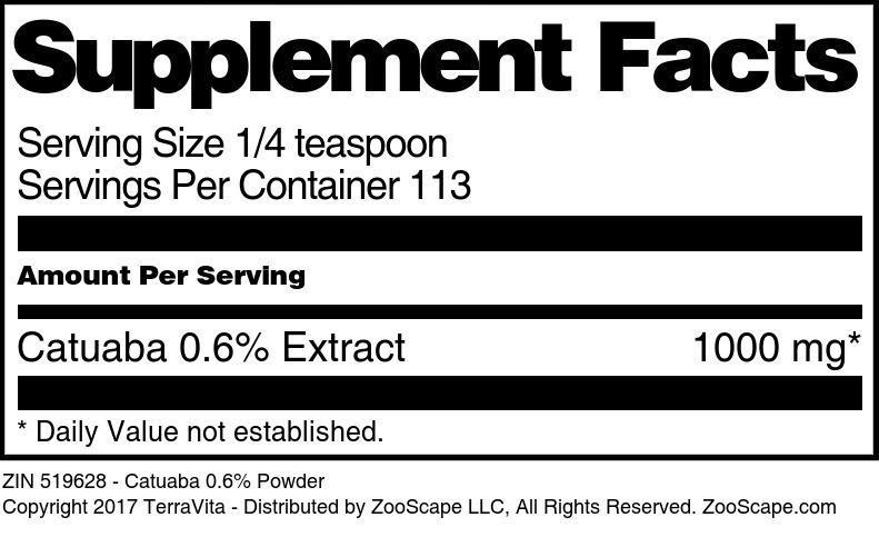 Catuaba 0.6% Powder