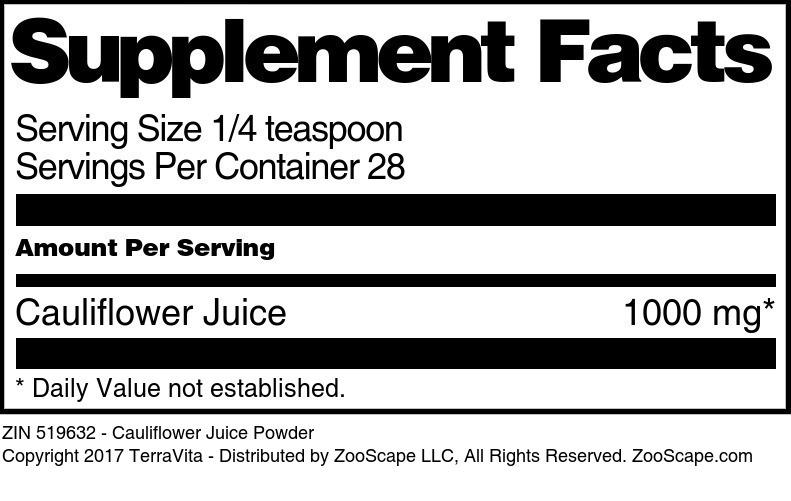 Cauliflower Juice Powder