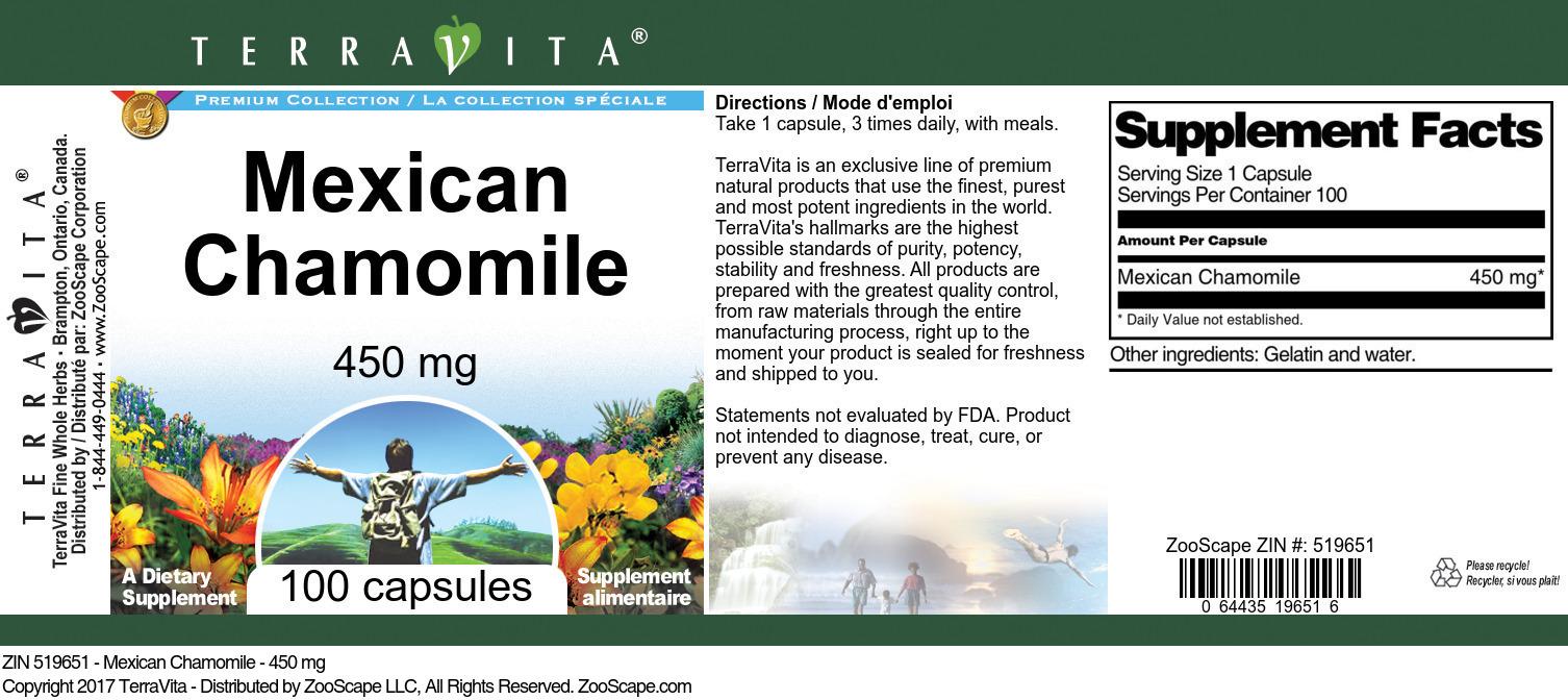 Mexican Chamomile - 450 mg