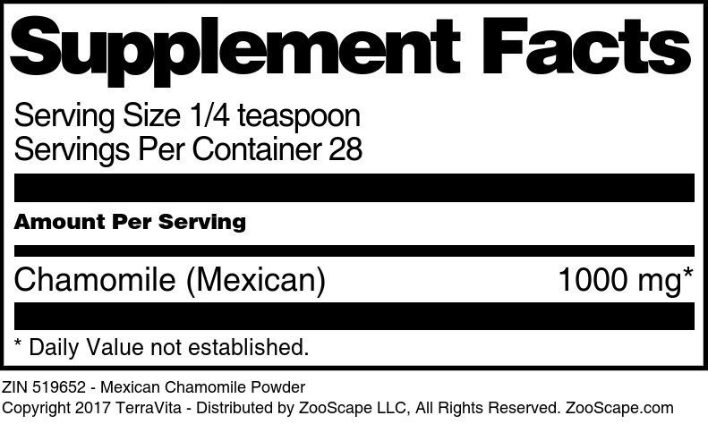 Mexican Chamomile Powder