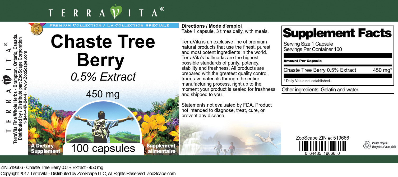Chaste Tree Berry 0.5% - 450 mg