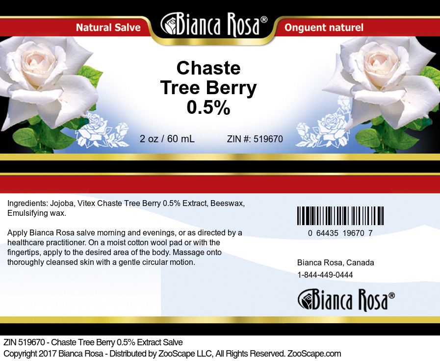 Chaste Tree Berry 0.5% Salve