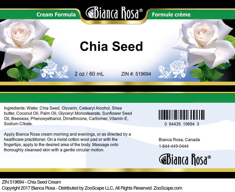 Chia Seed Cream