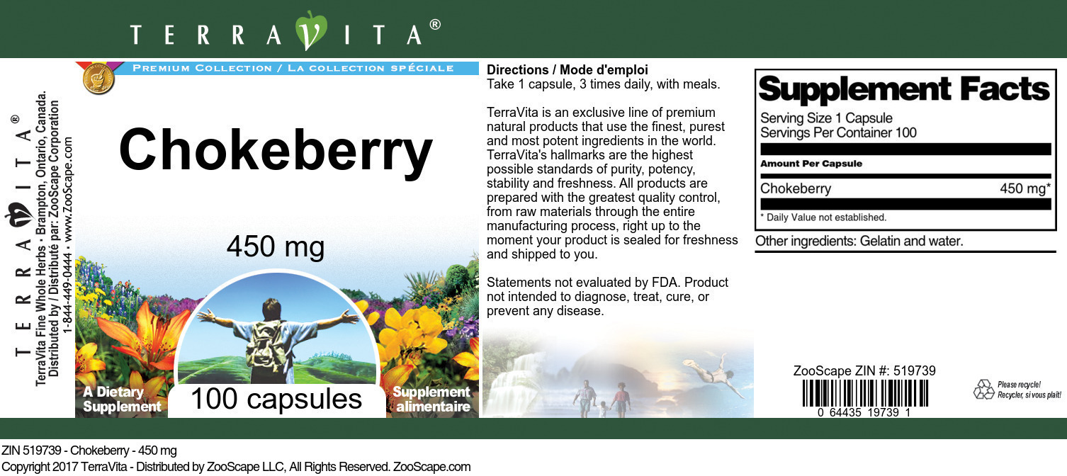 Chokeberry - 450 mg