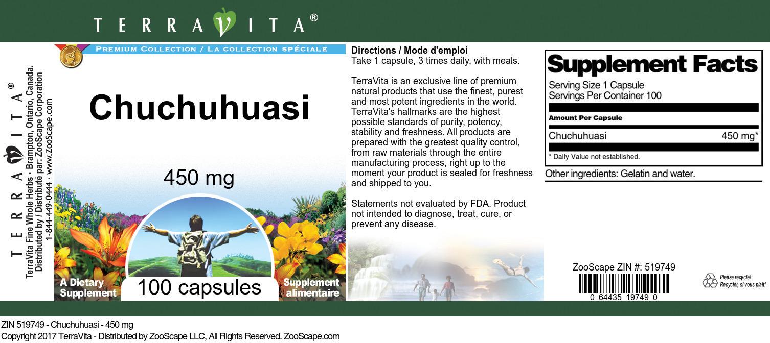 Chuchuhuasi - 450 mg