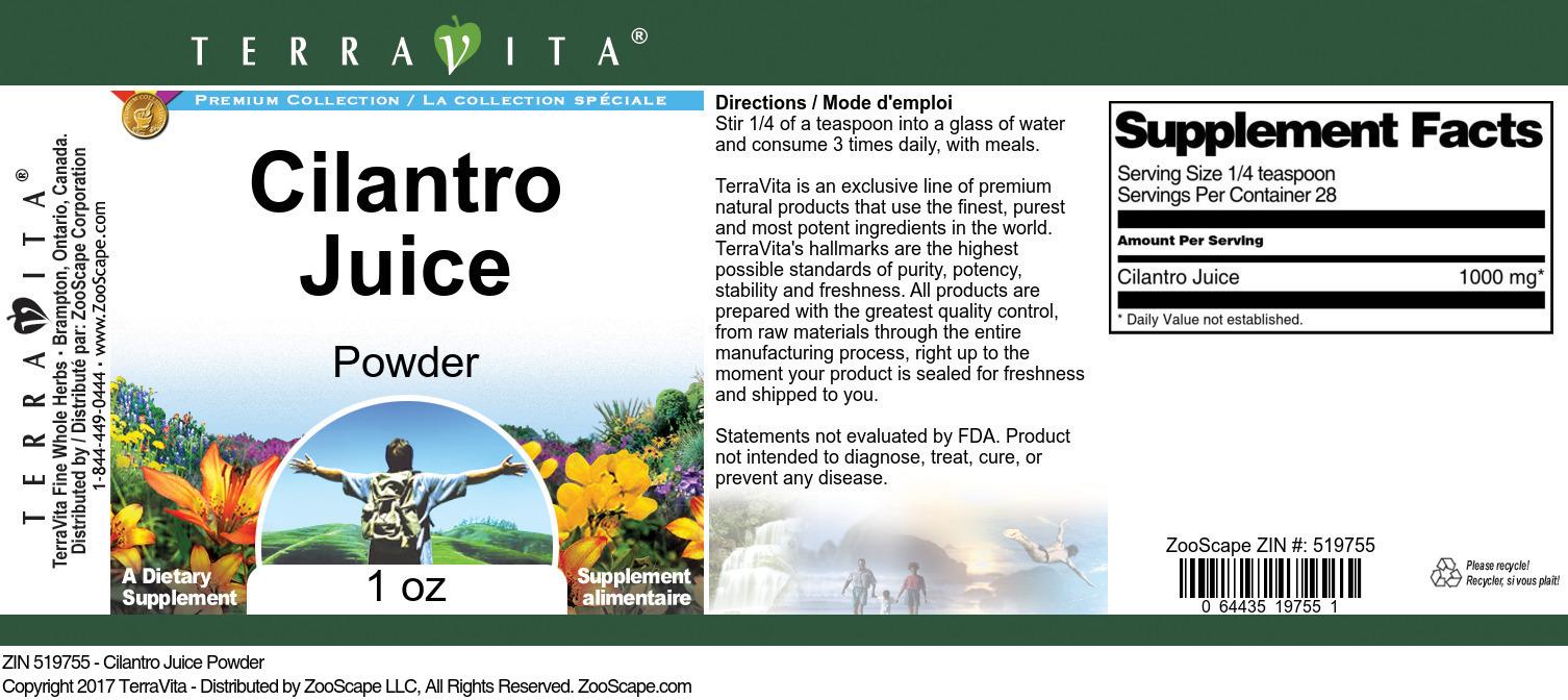 Cilantro Juice Powder