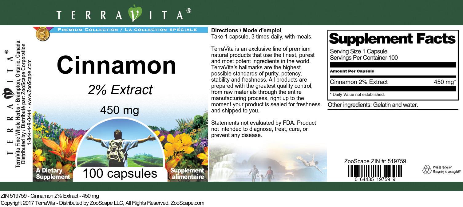 Cinnamon 2% - 450 mg