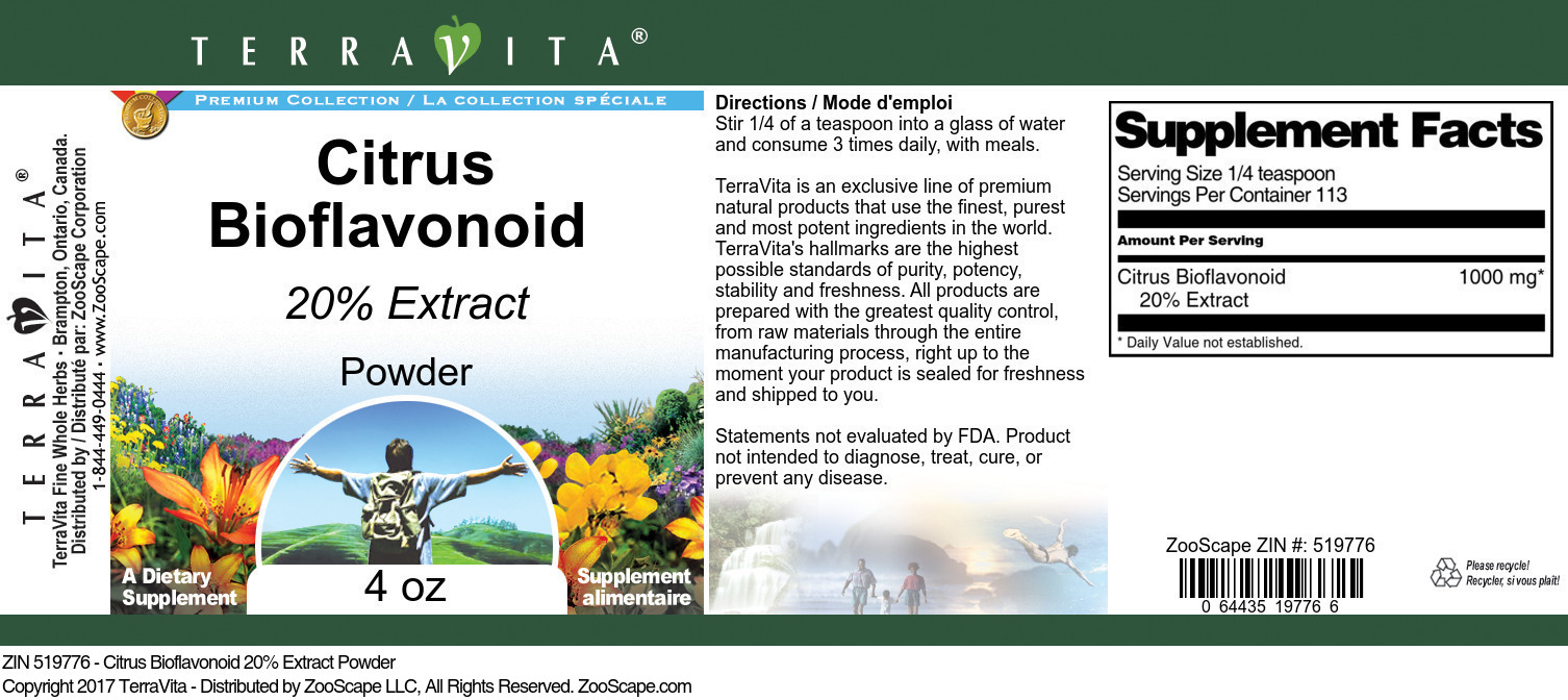Citrus Bioflavonoid 20% Extract