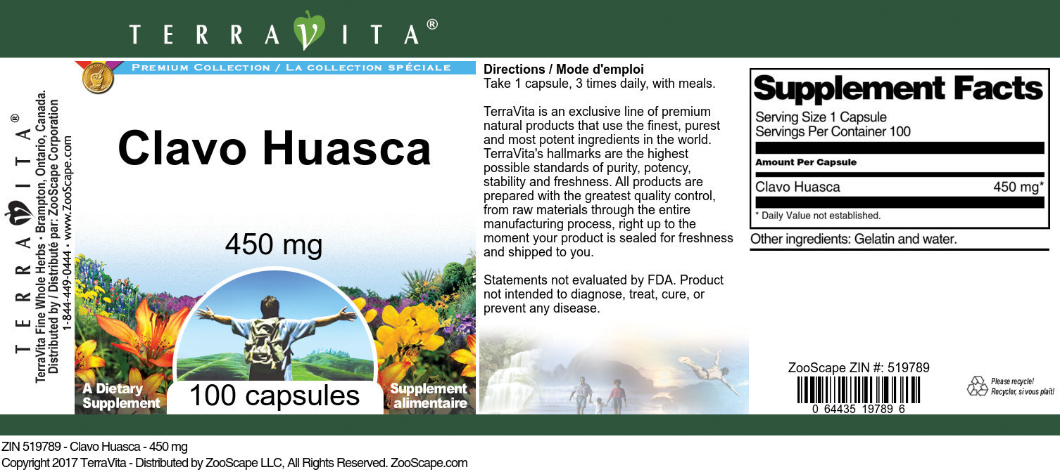 Clavo Huasca - 450 mg