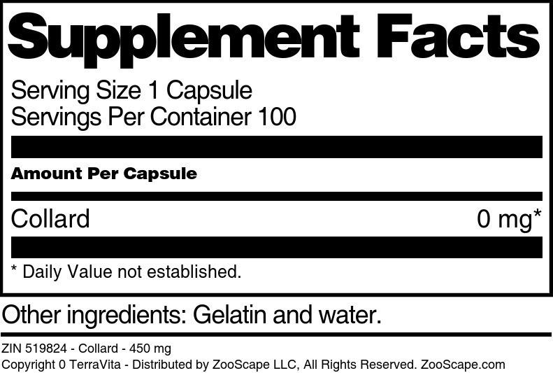 Collard - 450 mg