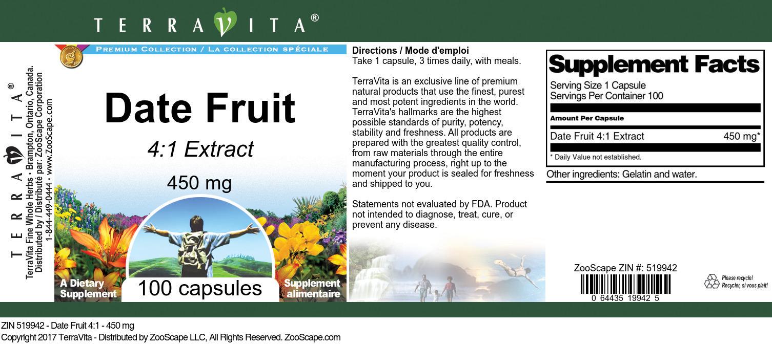 Date Fruit 4:1 - 450 mg