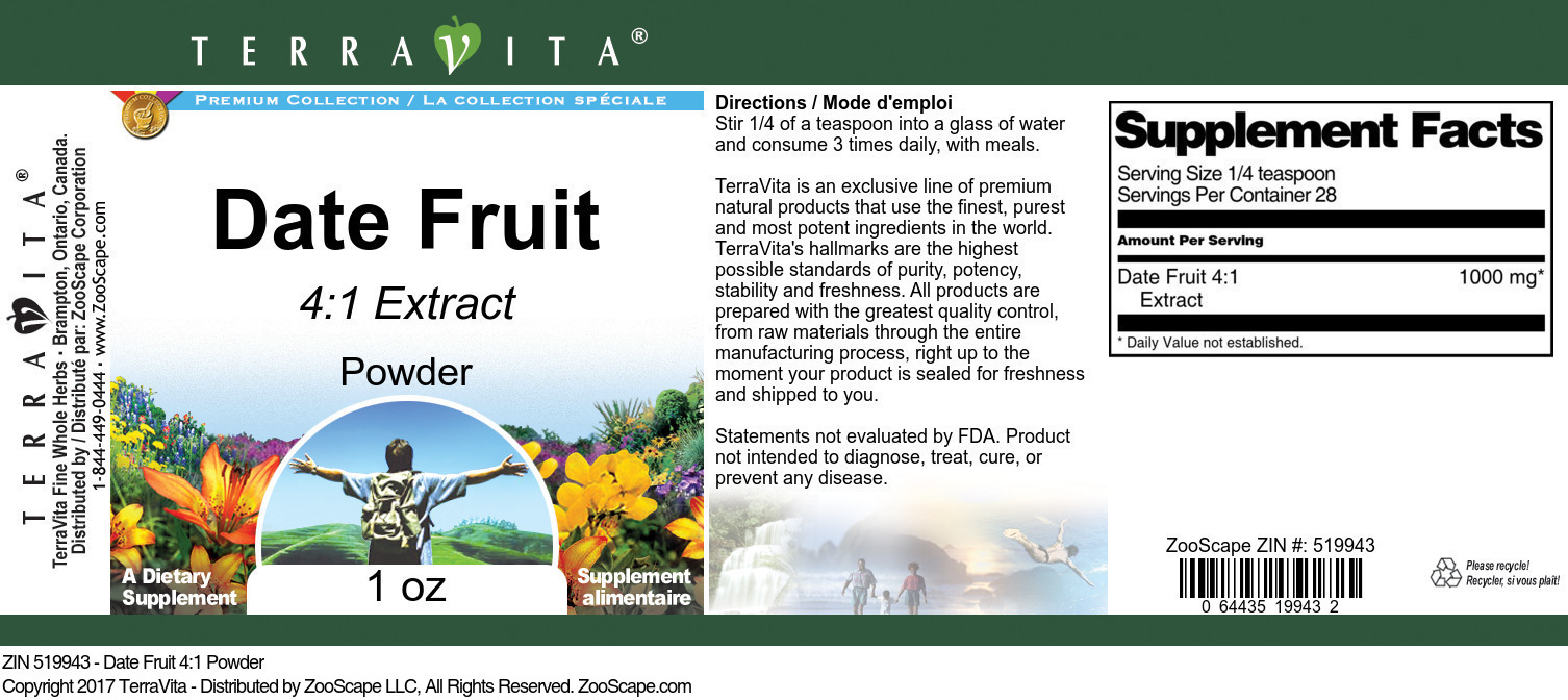 Date Fruit 4:1 Extract