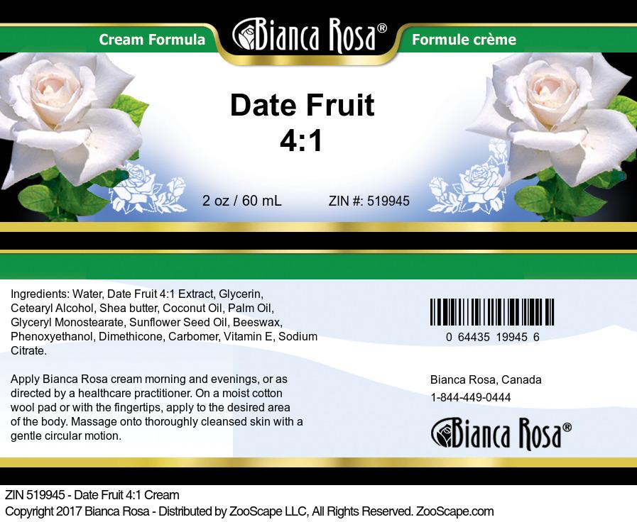 Date Fruit 4:1 Cream