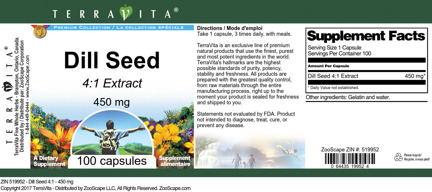 Dill Seed 4:1 Extract