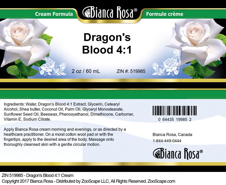 Dragon's Blood 4:1 Cream