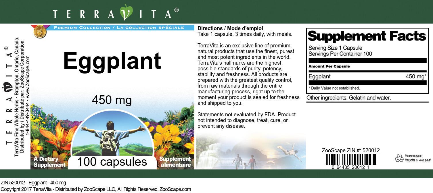 Eggplant - 450 mg