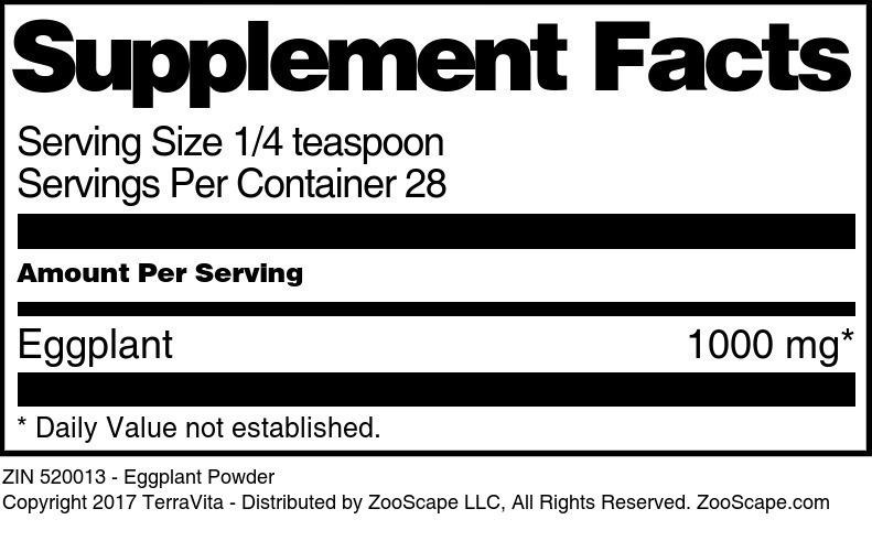 Eggplant Powder