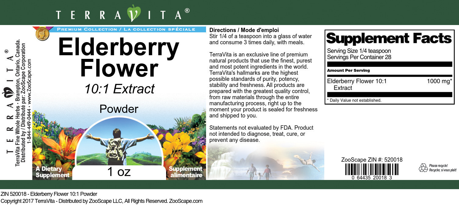 Elderberry Flower 10:1 Extract