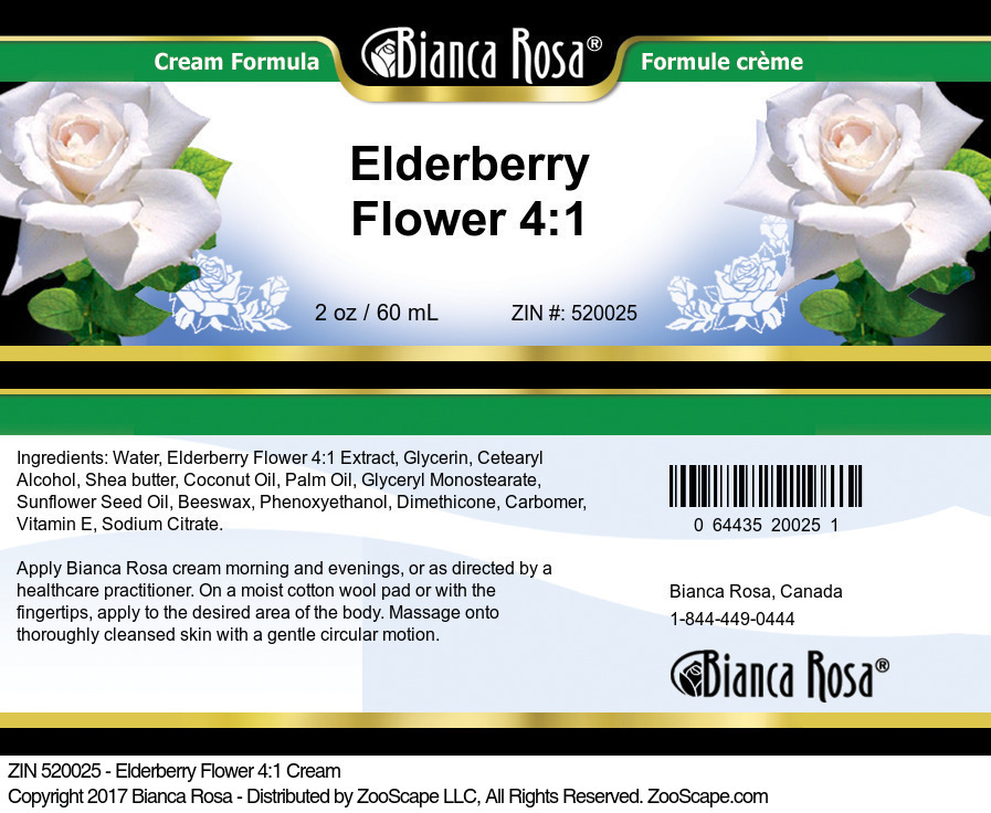 Elderberry Flower 4:1 Cream