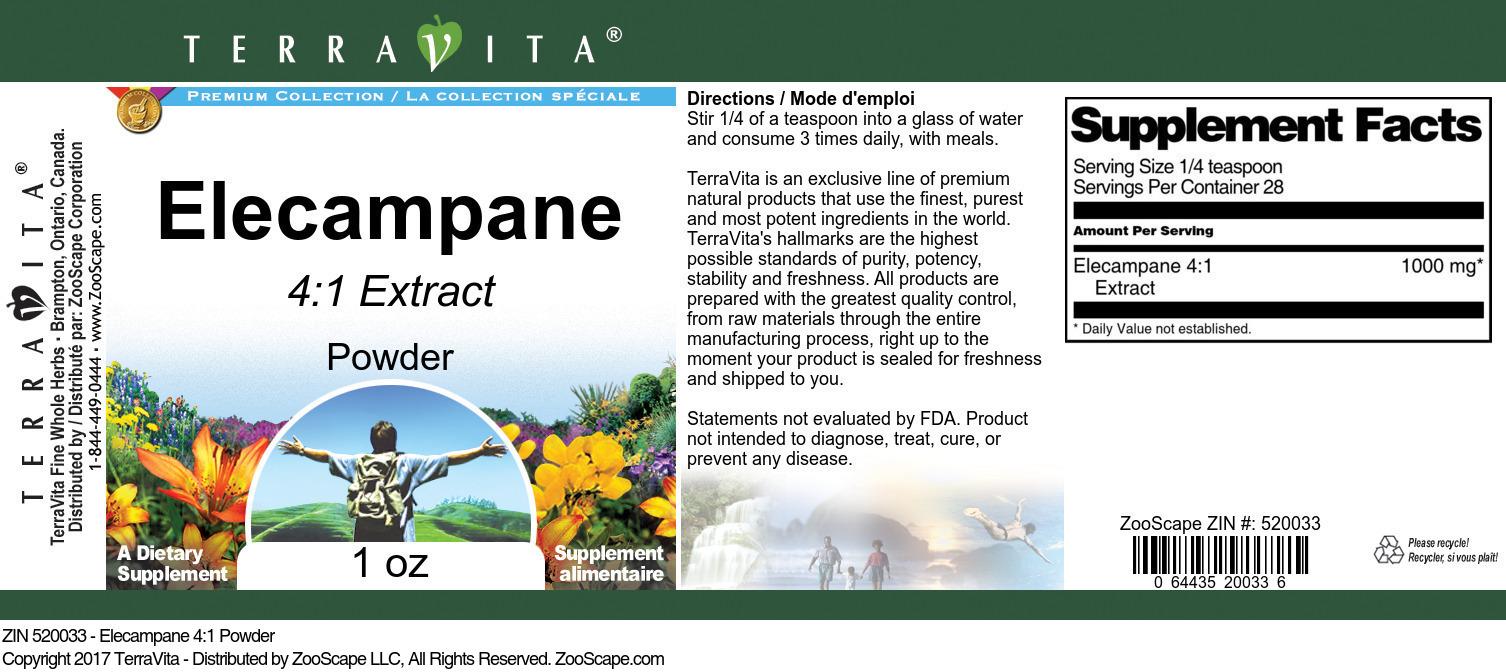 Elecampane 4:1 Powder - Label