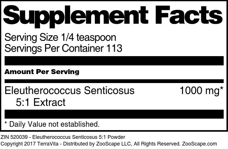 Eleutherococcus Senticosus 5:1 Powder