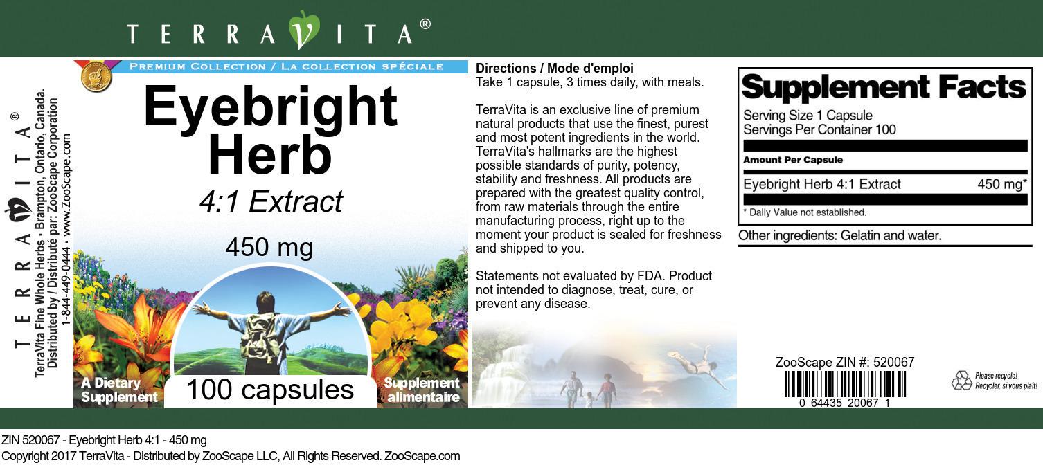 Eyebright Herb 4:1 Extract