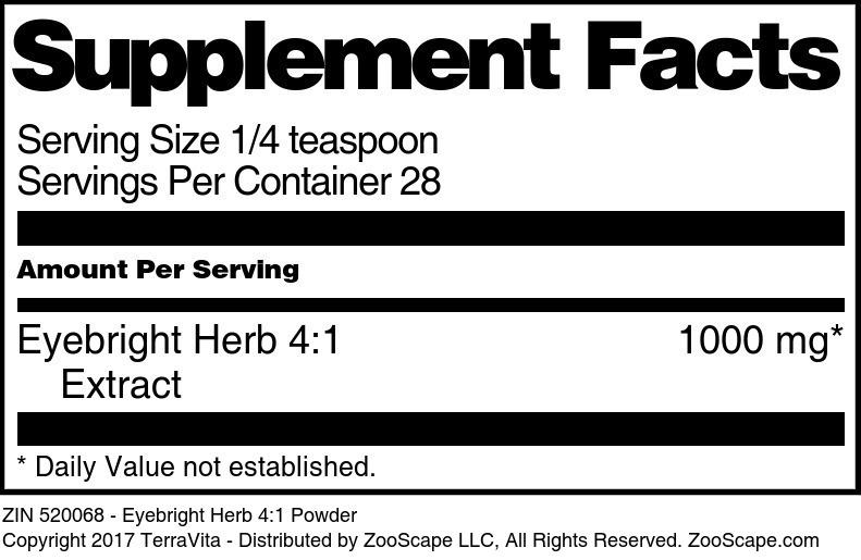 Eyebright Herb 4:1 Powder
