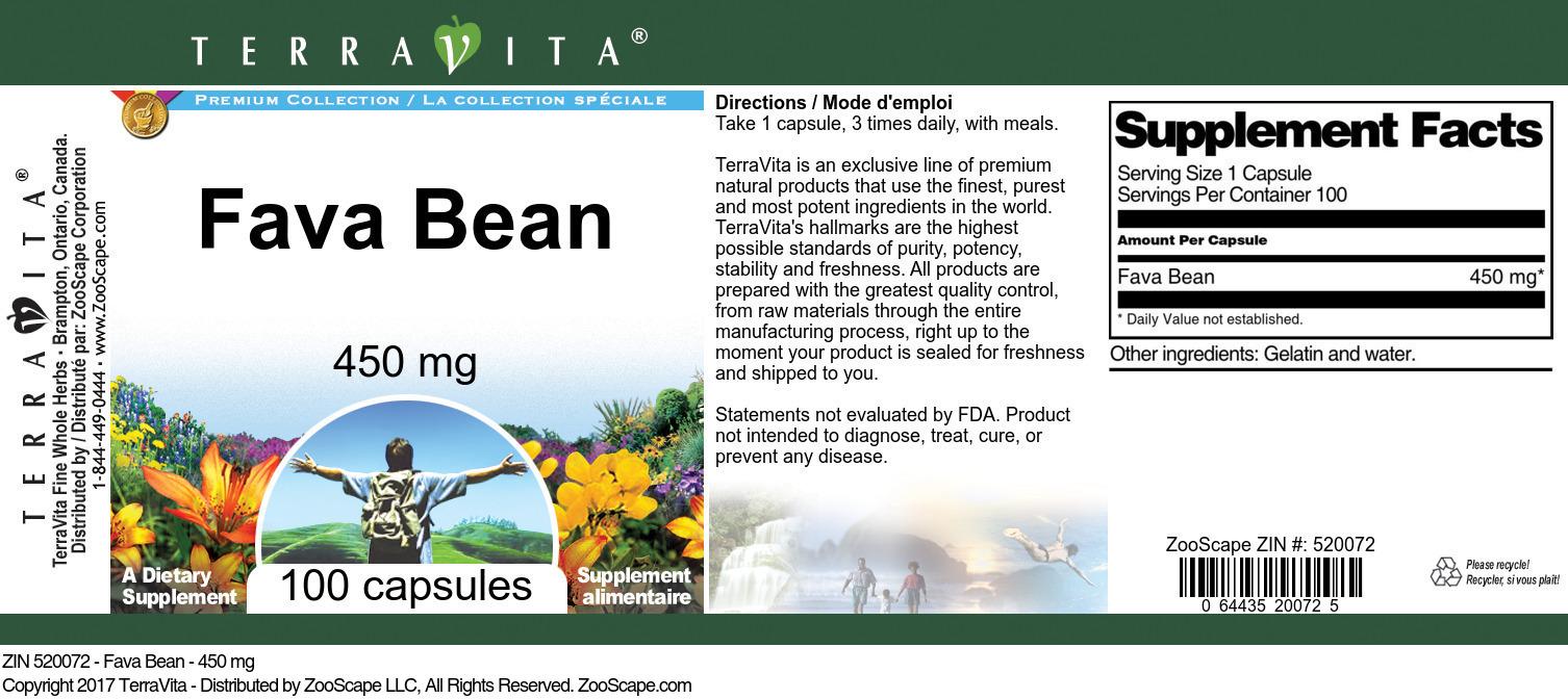 Fava Bean - 450 mg