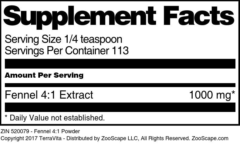 Fennel 4:1 Extract