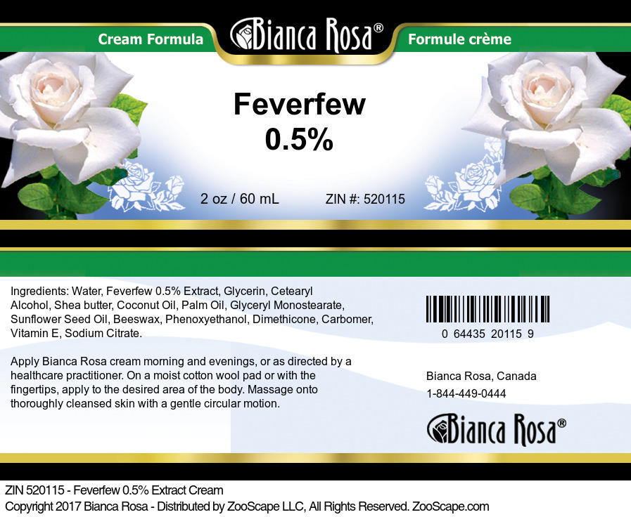 Feverfew 0.5% Cream