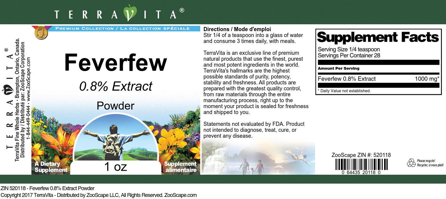 Feverfew 0.8% Powder
