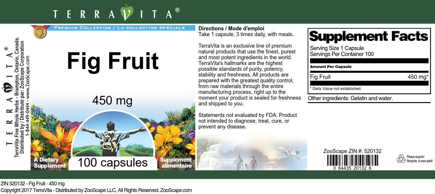 Fig Fruit - 450 mg