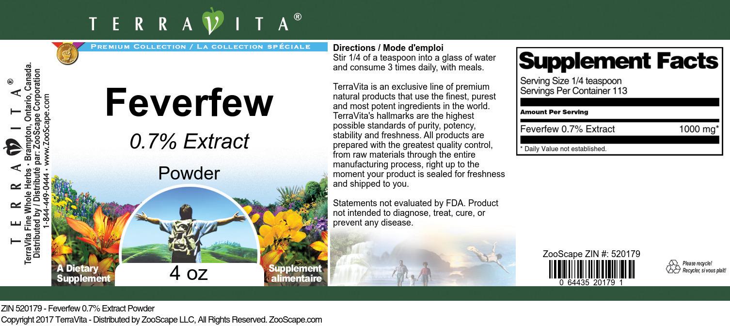 Feverfew 0.7% Powder