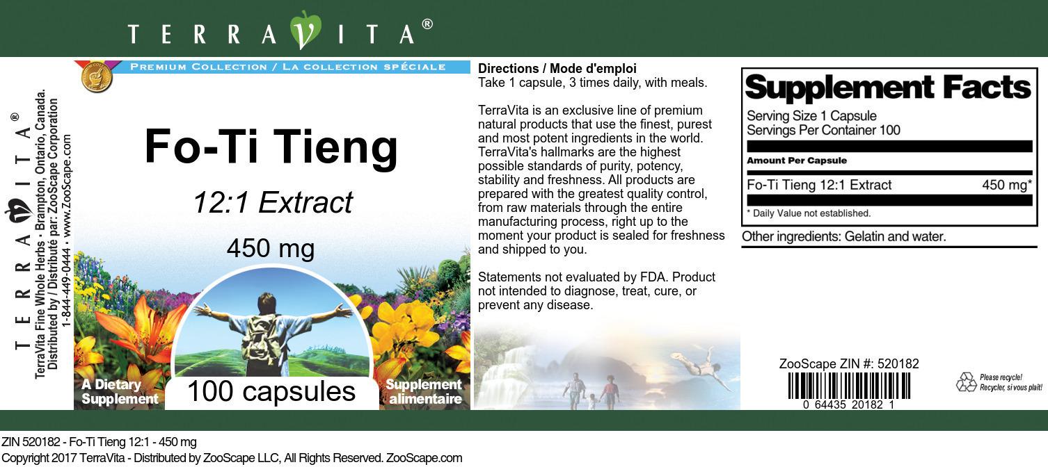 Fo-Ti Tieng 12:1 - 450 mg