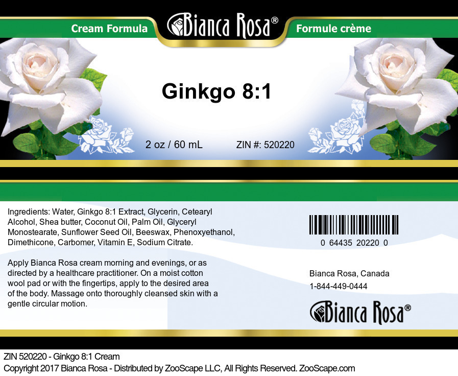 Ginkgo 8:1 Extract